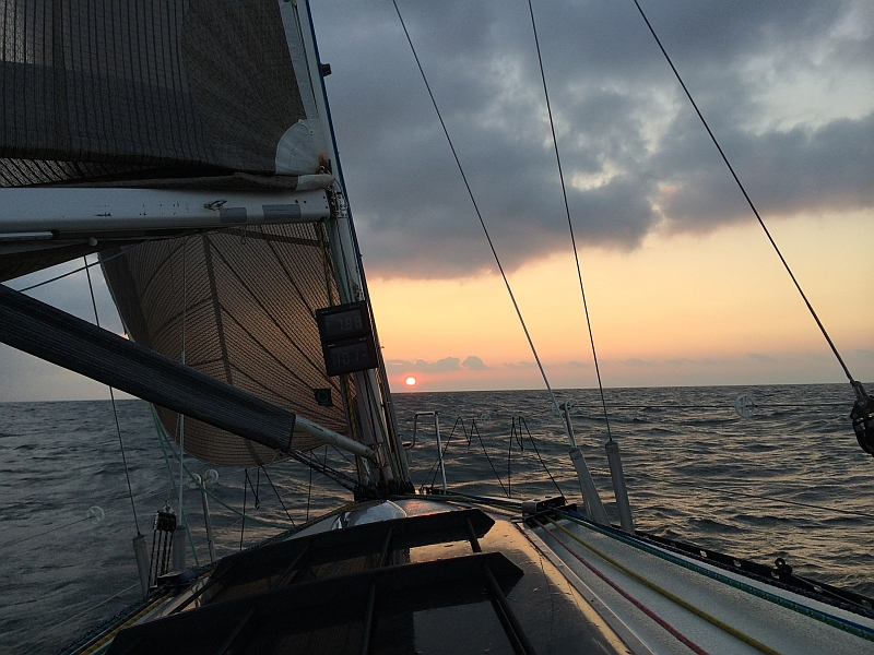 """Micha Matthiessen - """"Sonnenuntergang auf der Ostsee irgendwo Nähe Gedser, während der Überführung zum Silverrudder im September."""""""