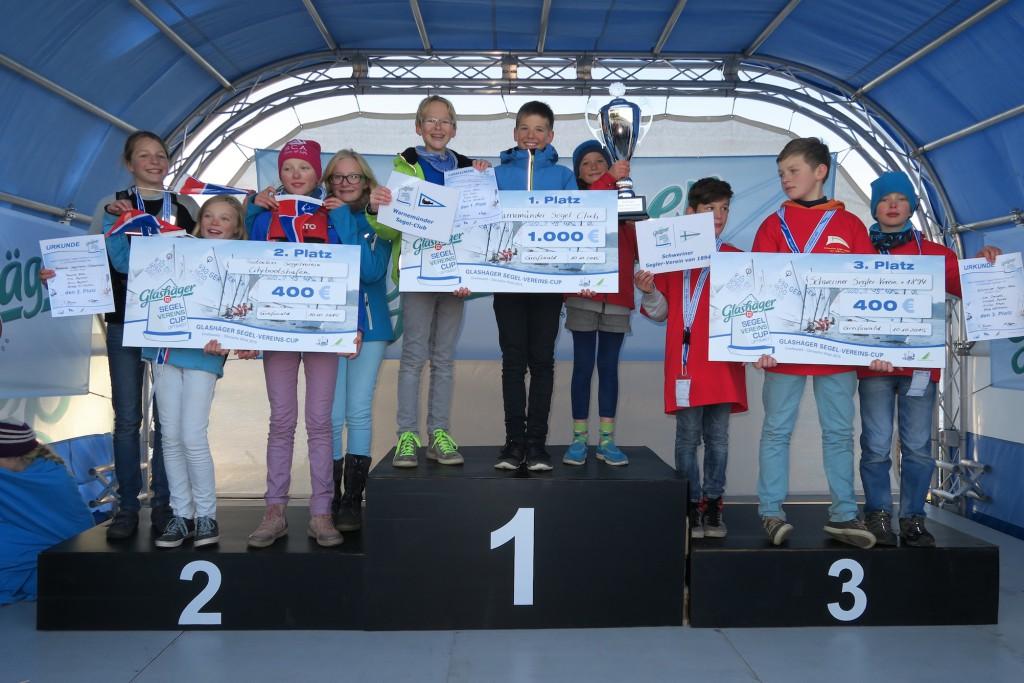 Glückwunsch an die stolzen Gewinner aus Warnemünde, Rostock und Schwerin.