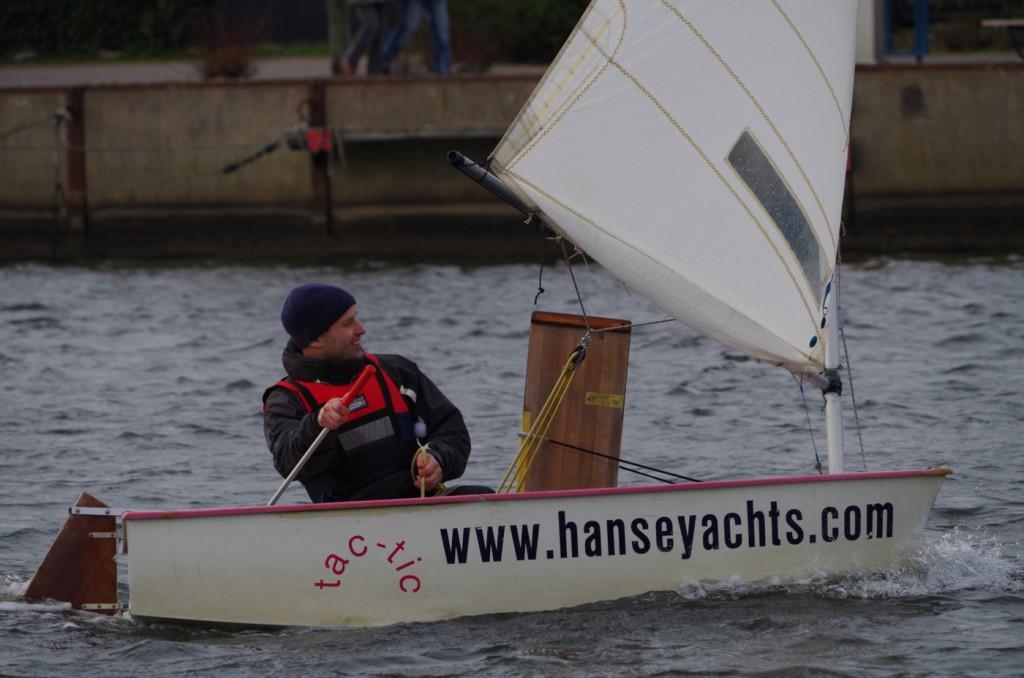 """""""Vor 20 Jahren"""" schon auf diesem Boot gesessen ... unser """"Neu-Greifswalder"""", hat seine Rennen souverän gewonnen."""