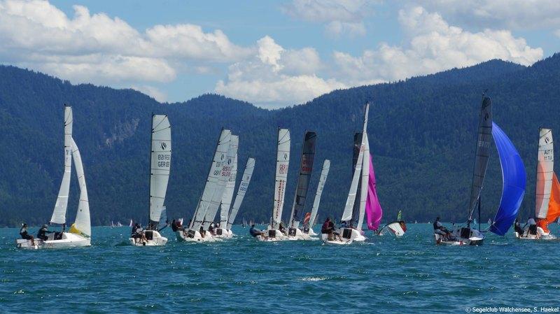 Gesegelt wurden an den drei Regatta-Tagen Up-and-Down-Kurse sowie ein großer Dreieckskurs.